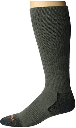 Merrell Moab Hiker Over-The-Calf Crew Socks 1-Pair (Olive Marl) Crew Cut Socks Shoes