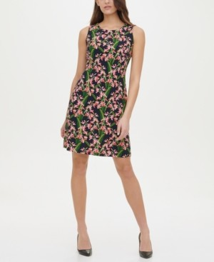 Tommy Hilfiger Amazon Floral-Print A-Line Dress