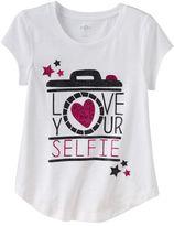Girls 7-16 SO® Short Sleeve Glitter Graphic Tee
