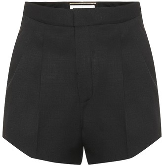 Saint Laurent Virgin wool high-rise shorts