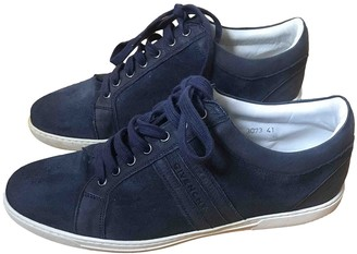 Givenchy Navy Suede Trainers