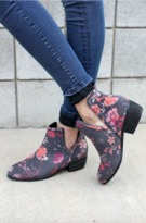 Floral Rosette Booties