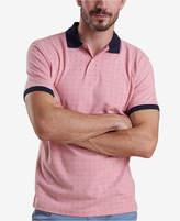 Barbour Men's Light Pink Polka Dot-Print Piqué Polo