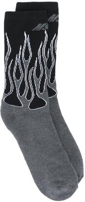 MSGM Flame Knit Sports Socks