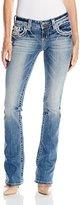Miss Me Women's Lace Cross Boot Cut Denim Jean