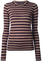 Rochas round neck striped pullover