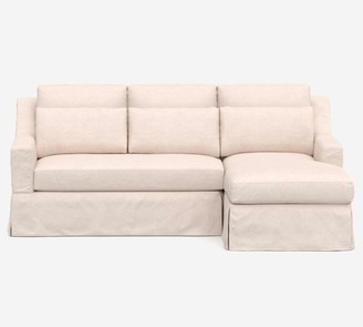 Pottery Barn York Slope Arm Deep Seat Slipcovered Chaise Sofa Sectional