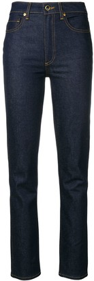 KHAITE High Rise Regular Jeans