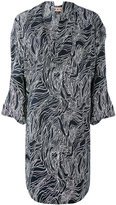 Marni Beardsley print draped dress - women - Cotton - 42