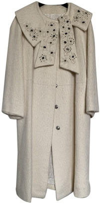 Christian Dior White Wool Coats