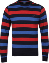 Paul & Shark Navy, Blue & Red Striped Sweater