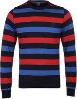 Paul & Shark Navy, Blue & Red Striped Sweater