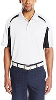 Izod Men's Textured Blocked Polo