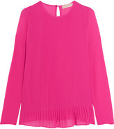 MICHAEL Michael Kors Pleated Crepe Top - Pink