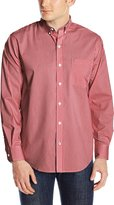 Izod Men's Long Sleeve No Iron Gingham Stretch Shirt
