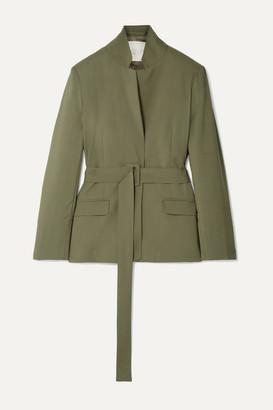 ENVELOPE1976 Pfeiffer Belted Wool Blazer - Army green