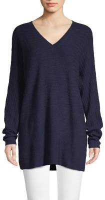 Lord & Taylor V-Neck Knit Wool-Blend Sweater