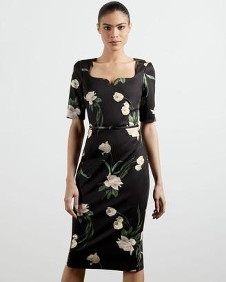 Ted Baker Elderflower Fitted Dress