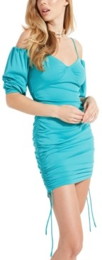 GUESS Milliy Ruched Mini Dress