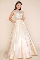 Mac Duggal Two Piece Ball Gown with Beaded Bodice 77124H