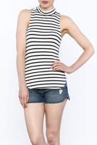 Frame Striped Sleeveless Top