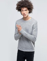 Cheap Monday Caught Knit Wool Mix Gray