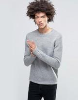 Cheap Monday Caught Knit Wool Mix Gray