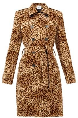 Pallas X Claire Thomson-jonville - Fairbanks Leopard-print Velvet Trench Coat - Womens - Leopard