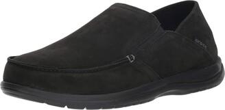 Crocs Men's Santa Cruz Convertible Leather Slip-On Loafer Flat