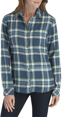 Dickies Women's Plus-Size Long-Sleeve Flannel Shirt