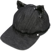 Karl Lagerfeld cat ears denim cap