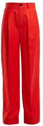 Kwaidan Editions Annik Wide Leg Wool Trousers - Womens - Red
