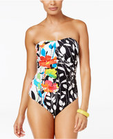 Anne Cole Growing Floral-Print Bandeau One-Piece Swimsuit