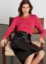 St. John Refined Cashmere Silk Rib Sweater