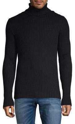 John Varvatos Ribbed Turtleneck Cotton Sweater