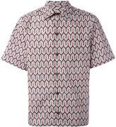 Prada geometric print shortsleeved shirt - men - Cotton - S