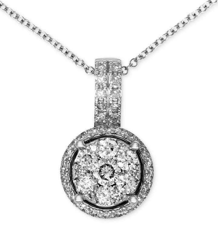 Effy Bouquet by Diamond Circle Cluster Pendant (3/8 ct. t.w.) in 14k White Gold