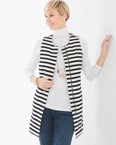 Chico's Graphic Stripe Vest