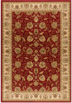 "Kenneth Mink Area Rug, Warwick Kashan Crimson/Wheat 5'3"" x 7'7"""