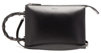 Jil Sander Tootie Bamboo-handle Leather Bag - Black