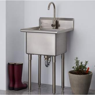 """Trinity 21.5"""" x 24"""" Freestanding Laundry Sink with Faucet"""
