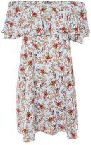 Tall confetti ditsy bardot dress