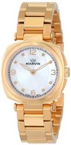 Marvin Women's M022.52.77.52 Cushion Analog Display Swiss Quartz Rose Gold Watch