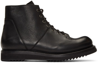 Rick Owens Black Monkey Creeper Sole Boots