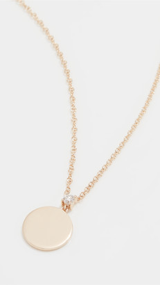 Ef Collection 14k Prong Set Diamond Disc Necklace
