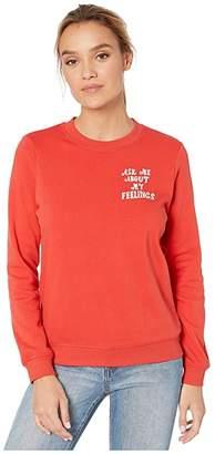 ban.do Long Sleeve Sweatshirt (Ask Me About My Feelings) Women's Clothing