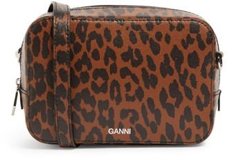 Ganni Mini Leopard Print Cross-Body Bag