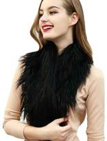 TONSEE Trendy Bride Wedding Dress Faux Fur Shawl Wedding Shawl