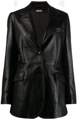 Miu Miu leather blazer