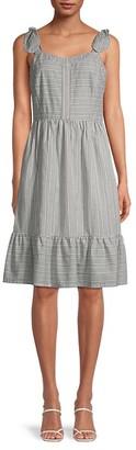 Gal Meets Glam Printed Bow Strap Mini Dress